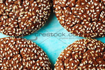 Food Background with Cookie Pieces
