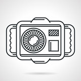 Sport camera black line vector icon