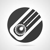 Artificial insemination black round vector icon