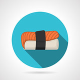 Nigiri-zushi flat design vector icon