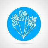 Temaki sushi blue vector icon