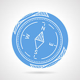 Compass blue vector icon