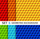 Set of geometric seamless backgrounds