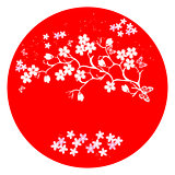 modern japanese cherry blossom template vector.