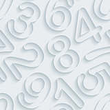 White paper numbers seamless background.