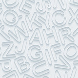 White alphabet paper seamless background.
