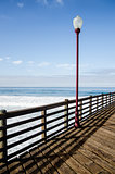 Street lamp on the pier