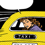 woman goes to taxi looks around separation anxiety love maniac p