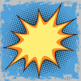 Bubble for text in the comic pop art retro style Halftone
