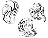 Three girl's heads