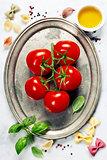 Tomato and fresh italian ingredients
