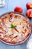 Fresh Peach Clafouti