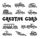 Creative cars design elements.