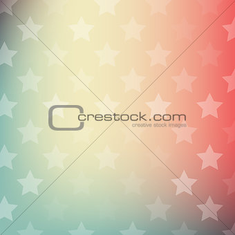 Abstract gradient background with stars