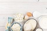 Sour cream, milk, cheese, eggs and yogurt