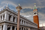 St. Marks Campanile after the storm, Venice