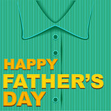 Happy Fathers Day. Template greeting card