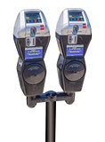 Eletronic parking meters, isolated