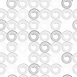 seamless pattern with spiral curls