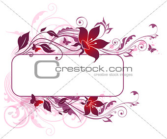 Background with violet and pink flowers