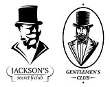 set vector logo templates for gentlemen's club