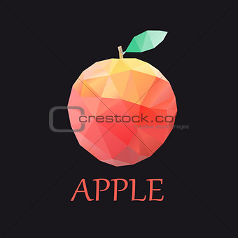 apple colorful triangles