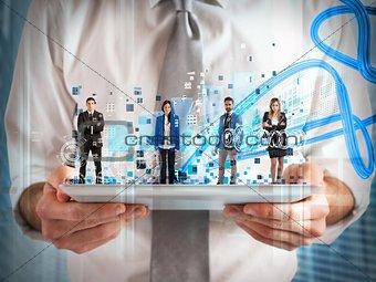 Business team tablet