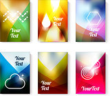 Set of cards with abstract colorfull backgrounds