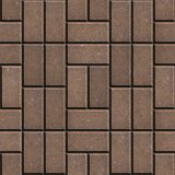 Brown Pave Slabs Rectangles Laid out in a Chaotic Manner.