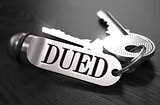 DUED Concept. Keys with Keyring.
