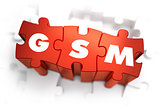 GSM - Text on Red Puzzles.