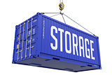 Storage - Blue Hanging Cargo Container.