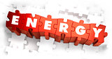 Energy - Text on Red Puzzles.