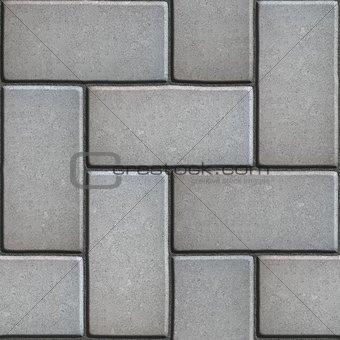 Gray Paving of Sidewalk Slabs Rectangles.