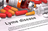 Diagnosis - Lyme Disease. Medical Concept.