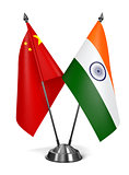 India and China - Miniature Flags.