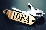 Idea written on Golden Keyring.