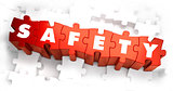 Safety - White Word on Red Puzzles.