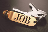 Job written on Golden Keyring.
