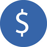 Vector illustration of money symbol.