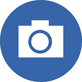 Vector illustration of a camera icon.