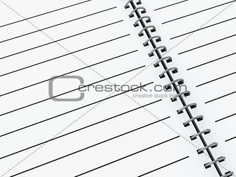 3d Notepad background.