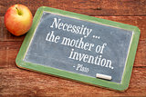Necessity - the mother of invention
