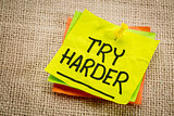 try harder motivation note