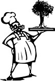 Chef with Tree