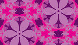 Purple Floral Shapes Pattern
