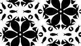Black Floral Shapes Over White