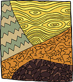 Abstract Drought Illustration