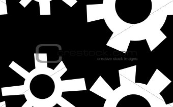 Background of White Gear Shapes