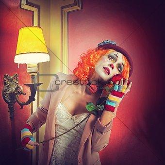 Dramatic clown